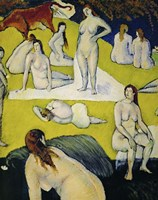 Female Bathers with Red Cow, 1877 Fine-Art Print