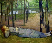 Madeleine in the Bois d'Amour on the River Aven Fine-Art Print