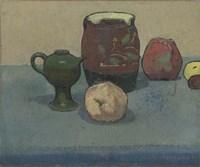 Stoneware Pot and Apples, 1887 Fine-Art Print