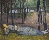 Madeleine in the Bois d'Amour, 1888 Fine-Art Print