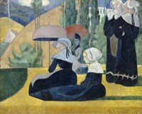 Breton Women with Umbrellas, 1892 Fine-Art Print