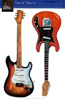 Electric Guitars Wall Decal