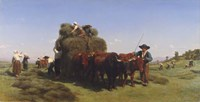 Haymaking in Auvergne, 1855 Fine-Art Print