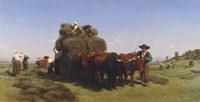 Haymaking in Auvergne, 1855 Fine-Art Print