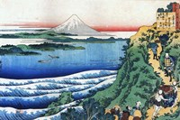 Snow on Mount Fuji, Porters Climb Uphill. Fine-Art Print