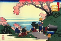 Three Men Admire the Cherry Blossoms Fine-Art Print