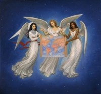 Angels with map Fine-Art Print