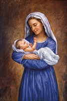 Mary And Baby Jesus Fine-Art Print