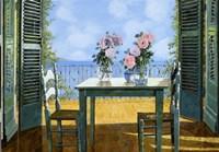 Le Rose E Il Balcone Fine-Art Print
