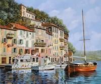 La Barca Rossa Alla Calata Fine-Art Print
