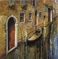 La Gondola Sul Canale Fine-Art Print