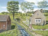 Cottage Pathway Fine-Art Print