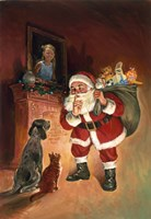 Santa And Family Pets Fine-Art Print