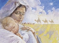 Mary With Baby Jesus Fine-Art Print