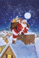 Santa On Rooftop Fine-Art Print