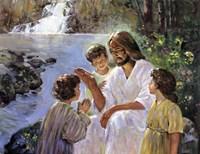 Christ And The Children Fine-Art Print