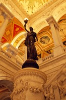 USA, Washington DC, Library of Congress interior with sculpture Fine-Art Print