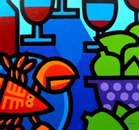 Lobster Wine And Limes Fine-Art Print