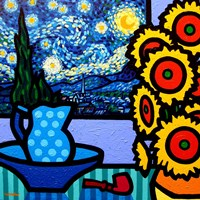 Still Life With Starry Night Fine-Art Print