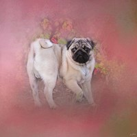 Pug In The Garden Fine-Art Print