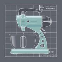 Galaxy Mixer - Aqua Fine-Art Print