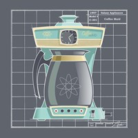 Galaxy Coffeemaid - Aqua Fine-Art Print