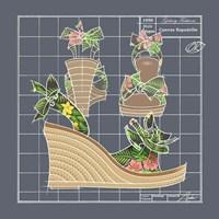 Galaxy Shoes - Espadrille Tropicale Black Fine-Art Print