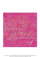Sorbet Scripts - Dwell In Poss Fine-Art Print