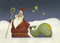 Santa and his staff Fine-Art Print