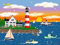 Triangle Point Lighthouse Fine-Art Print