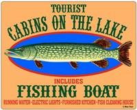 Tourist Cabins on the Lake Fine-Art Print