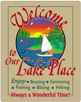 Welcome to Our Lake Place Fine-Art Print