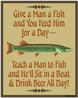Give Teach Fish Beer Fine-Art Print