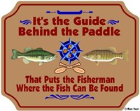 Guide Behind The Paddle Fine-Art Print