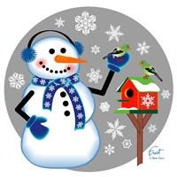 Snowman Birdhouse Fine-Art Print
