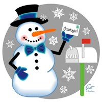 Snowman Mailbox Fine-Art Print