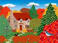 Stone Cottage Autumn Fine-Art Print