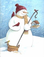 Snowman Red Hat Fine-Art Print