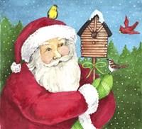 Santa Log Birdhouse Fine-Art Print