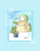 Snowman Doves Fine-Art Print