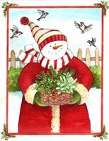 Snowman Gift Basket Fine-Art Print