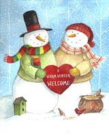 Warm Welcome Snowman Fine-Art Print