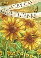 Sunflower Give Thanks Everyday Fine-Art Print