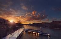 Bateaux Mouches Sunset Fine-Art Print