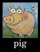 Pig Poster Fine-Art Print