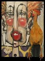Clown And Rubber Chicken Fine-Art Print