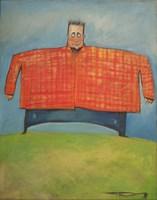 Man In Orange Plaid Fine-Art Print