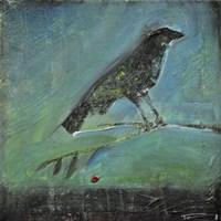 Blackbird Red Berry Fine-Art Print