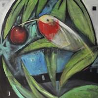 Humming Bird And Cherry Fine-Art Print