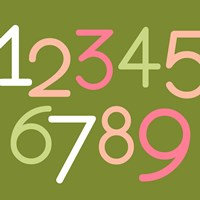 Contemporary Baby Numbers III Fine-Art Print